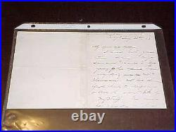 1883 General Philip Sheridan Hand Written Autographed Signed Letter