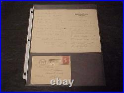 1900 Confederate General Joseph Wheeler Autographed Signed Hand Written Letter