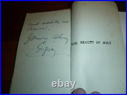 1932 The Beauty Of Jesus Gypsy Smith Double Signed Hand Written Letters + More