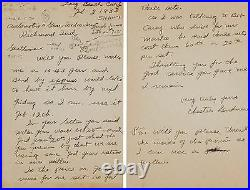 1933 Chet Gardner, Indianapolis 500 Racer, Hand Written, Signed Two Page Letter