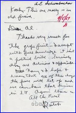 1967 Handwritten Signed Letter Ronald Dutch Reagan To Old Friend