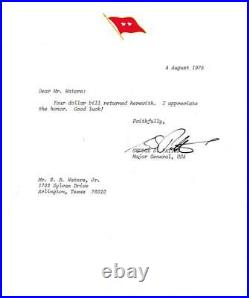 1975 General George S Patton IV Autographed Signed Hand Written Letter