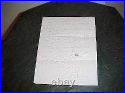 1997 Roger Wilkins Autographed Signed Hand Written Letter Civil Rights Leader