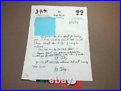 ART CLOKEY Hand Written and Signed Letter by GUMBYs Creator From 4/13/84