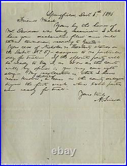 Abraham Lincoln Handwritten Letter Signed, A Rare Historical Find