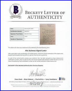 Alec Guinness Star Wars Authentic Signed 1978 Handwritten Letter BAS #AA06581