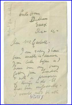 Alfred Munnings Handwritten Letter Signed / British Horse Artist Autographed