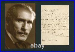 Arturo Toscanini CONDUCTOR autograph, handwritten letter signed & mounted