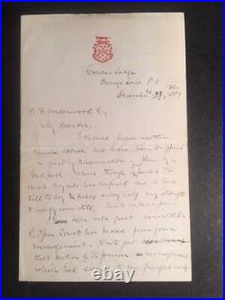 Astronomer Richard A. Proctor Handwritten Letter Signed On Science And Religion