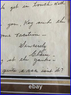 Babe Ruth (Claire Ruth, Mrs. Babe Ruth) Autographed (JSA Letter) Hand-Written