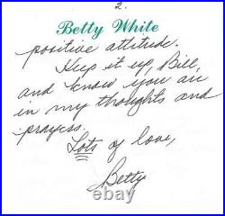 Betty White Rare Two Page Handwritten & Signed Letter Autographed Jsa Coa