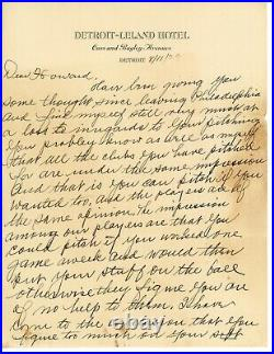 Connie Mack Signed Handwritten Autographed Letter PSA DNA LOA