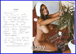 Cynthia Myers Signed Photo & Hand Written Letter 1968 Playboy Playmate J7224