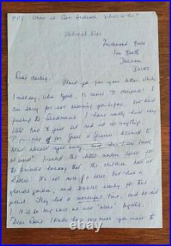 Deborah Kerr Signed Handwritten Autographed Letter Detailed And Personal