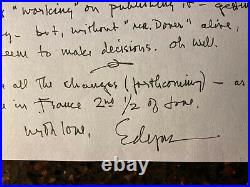 Edgar Tafel Hand Written And Signed Letter & Frank Lloyd Wright Post Card To ET