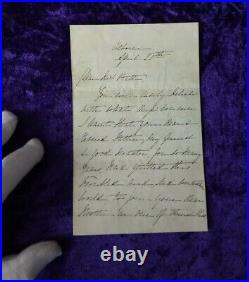 Excellent 1864 Queen Victoria handwritten & signed letter from Osborne house