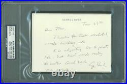 George H. W. Bush Authentic Signed 4.5X6 Hand Written Letter PSA/DNA Slabbed