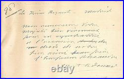 Handwritten Letter Signed by Albert Edward, King Edward VII in 1894 with COA