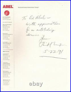 Handwritten Letter Signed by Richard Nixon in 1991 with COA