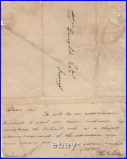 Handwritten Letter Signed by Thomas Sully with COA