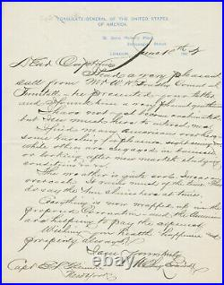Henry Clay Evans SIGNED AUTOGRAPHED Handwritten Manuscript Letter Tennessee 1902