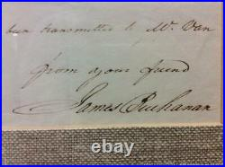 JAMES BUCHANAN HAND WRITTEN LETTER SIGNED -02/18/1831 Refers to 3 Presidents