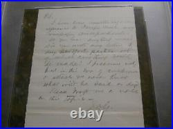James A. Garfield Signed Handwritten Letter Psa/dna Authentic Auto President