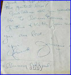Jimmie Dodd Hand Written Autographed Signed Letter Mickey Mouse Club (D. 1964)