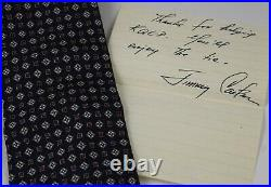 Jimmy Carter Signed Autographed Tie and Hand Written Letter