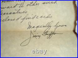 Jimmy Grippo SIGNED 1971 Handwritten Letter Caesars Palace Envelope Magician