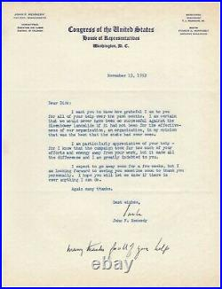 Kennedy, John F. (1917-1963) Content typed letter signed with handwritten add