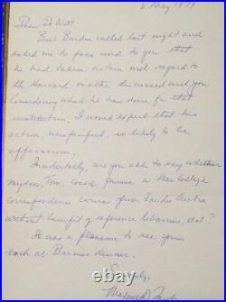 MAXWELL D. TAYLOR AUTOGRAPH Hand Written LETTER SIGNED 5/8/79