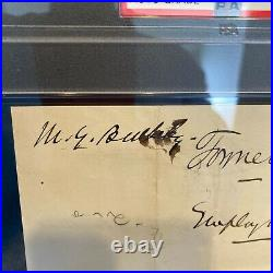 Morgan Bulkeley Twice Signed 1884 Handwritten Letter PSA DNA 8 Hall Of Fame Auto