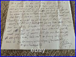 Peter Criss KISS Signed Autographed Handwritten Letter to Daughter BAS Certified
