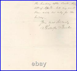 Phillips Brooks Handwritten Letter Signed in 1885 with COA