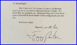 President Jimmy Carter 2001 Typed Letter Signed With Handwritten With Love