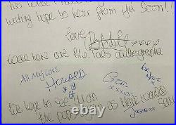 ROBBIE WILLIAMS & TAKE THAT unique Early Handwritten Letter by all 5! Signed