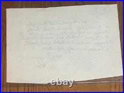 Ray Bolger Handwritten and Signed Letter. Amazing Wizard of Oz Context. COA