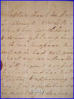 Sir John Franklin Handwritten Letter Signed 3rd Person Lady Franklin Autograph