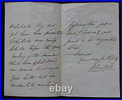 Sir Winston Churchill great grandfathers 3 page handwritten letter Signed +COA