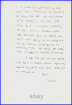 Stunning Truman Capote handwritten letter Signed & Dated 1952 Taormina Sicily