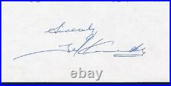 Ted Kennedy handwritten and signed hockey letter Jsa authenticated