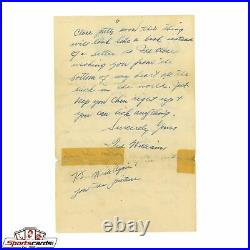 Ted Williams Signed 1940 Handwritten Signed Letter to Mistress with Great Content