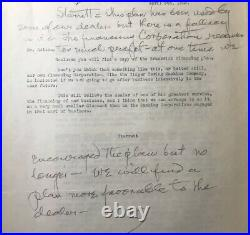 Thomas Edison Signed 1923 Typed Letter Autographed Handwritten Notes PSA DNA