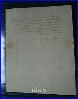 Thomas Jefferson Hand Written & Signed Letter Thanking The 76 Association 1817