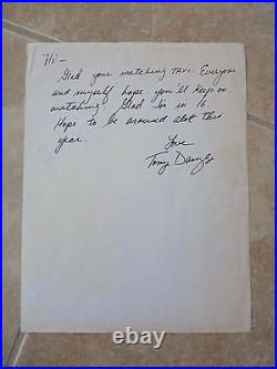 Tony Danza Taxi Signed Autographed Hand Written Letter To 16 Mag. PSA Guaranteed