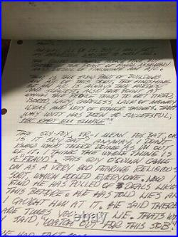 Tony LeVier signed PERSONAL HANDWRITTEN LETTER 5 Pages Signed Tony