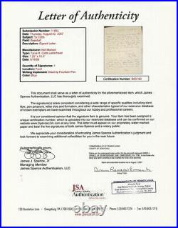 Ty Cobb Handwritten and Signed (Twice) Single Page Letter On Own Stationary JSA