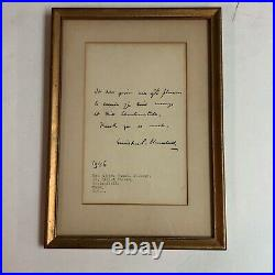 WINSTON S CHURCHILL Hand Written & Signed Letter from 1946 Autograph
